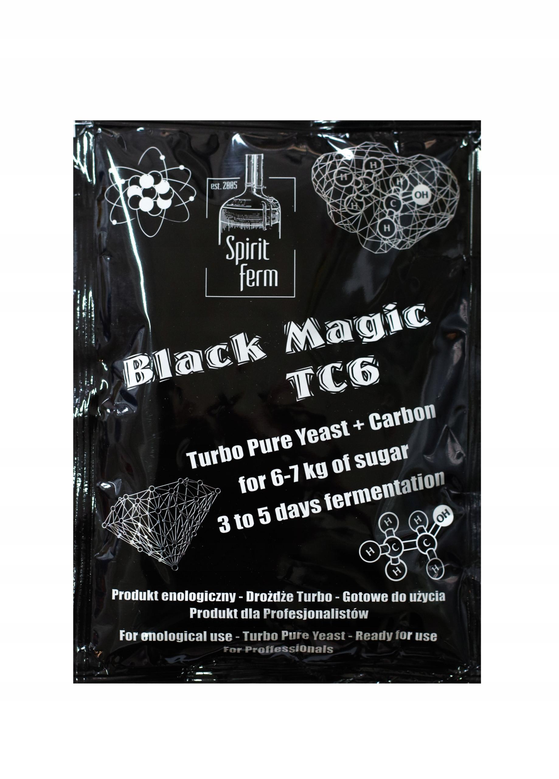 Drożdże GORZELNICZE SF T36 BLACK MAGIC z węglem AK
