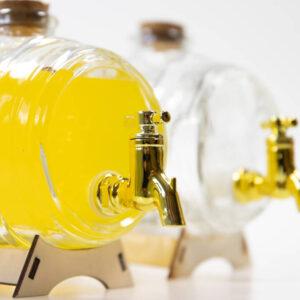 Beczka szklana 1l z kranikiem
