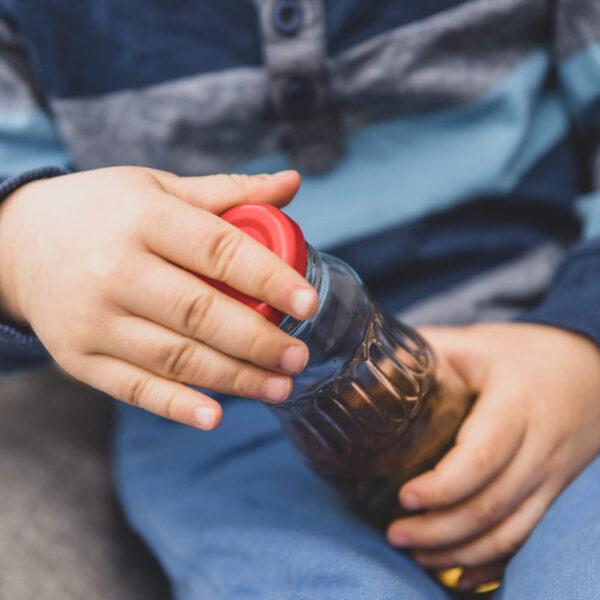 butelka JUICE szklana wieczko fi43