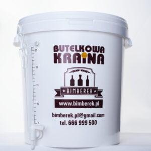 Pojemnik fermentacyjny biały 33L z kranem i rurką kątową