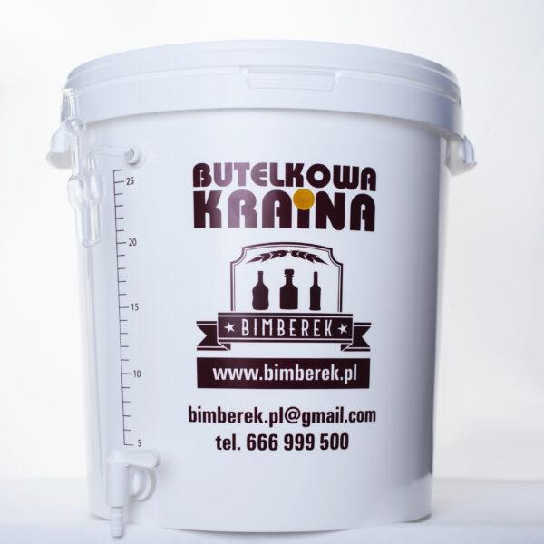 Pojemnik fermentacyjny biały 33L + Skala 26 litrów + KRANIK