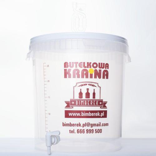 POJEMNIK FERMENTACYJNY TRANSPARENTNY 33L RURKA + KRAN