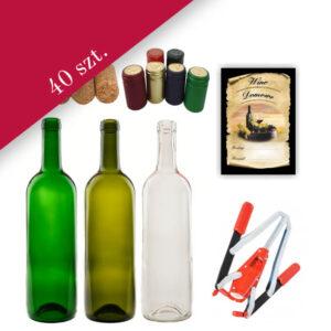 Zestaw do wina bimberek butelki