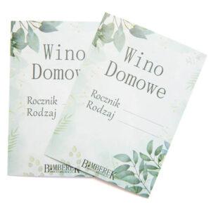 Etykieta na wino domowe wzór 3