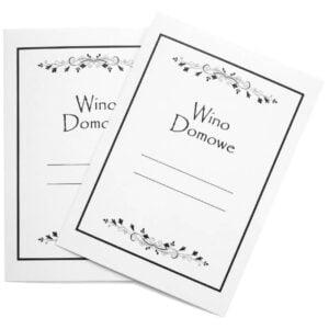 Etykieta na wino domowe wzór 5