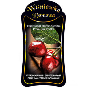 Etykieta wiśniówka domowa Bimberek