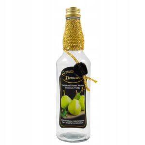 Butelka-zdobiona-monopol-500ml-DOMOWA-GRUSZKOWKA
