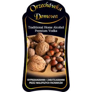 Etykieta orzechówka premium